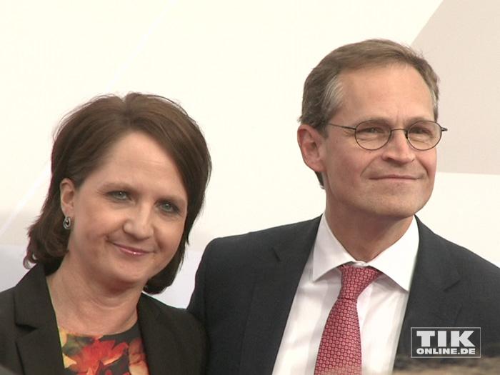 Berlins Regierender Bürgermeister Michael Müller und seine Frau Claudia bei der Bertelsmann Party 2015