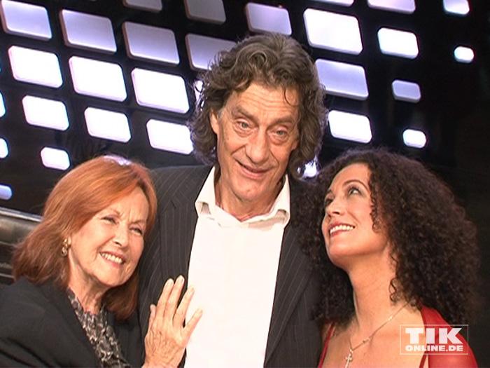 """Brigitte Grothum mit ihren """"Jedermann""""-Kollegen Winfred Glatzeder und Barbara Wussow"""