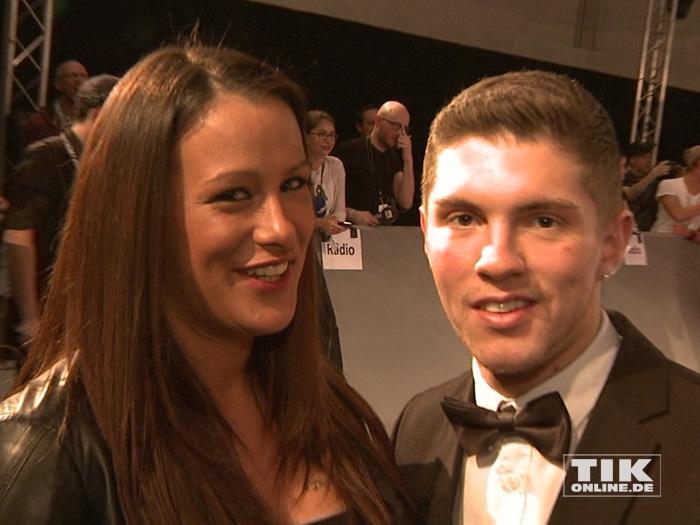 Joey Heindle mit seiner Freundin Justine Dippl beim Echo 2015