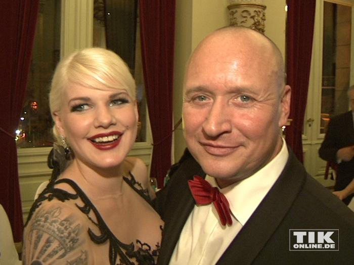 Melanie Müller und ihr Ehemann Mike beim Dresdener Semperopernball 2015