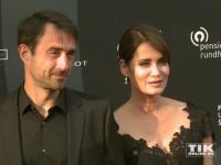 Anja Kling kam mit ihrem Freund Oliver zum Deutschen Schauspielerpreis 2015
