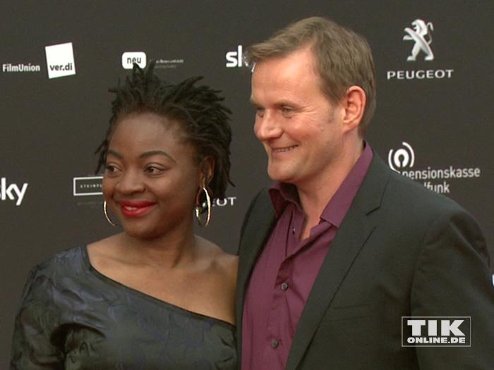 Devid Striesow mit seiner Frau Francine beim Deutschen Schauspielerpreis 2015