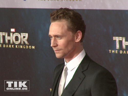 "Tom Hiddleston bei der ""Thor - The Dark Kingdom""-Premiere in Berlin"