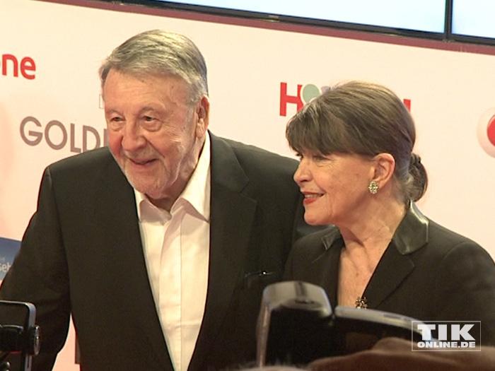 Günter Lamprecht kam mit seiner Ehefrau zur Goldenen Kamera 2015