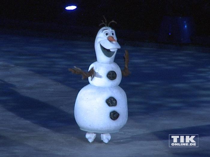 """Schneemann Olaf aus """"Die Eiskönigin"""" bei der Premiere von """"Disney On Ice"""""""