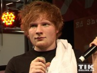 Ed Sheeran im Interview mit der Moderatorin der Media-Markt Bühne in Berlin