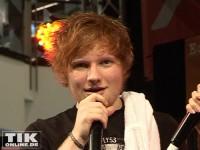 Mädchenschwarm Ed Sheeran kommt vor lauter Gekreische kaum zu Wort