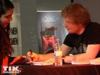 Brite Ed Sheeran war super freundlich zu seinen Fans und die hin und weg von ihrem Star