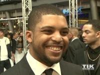 """Seinem Vater Ice Cube wie aus dem Gesicht geschnitten: O'Shea Jackson Jr. bei der Premiere von """"Straight Outta Compton"""" in Berlin"""