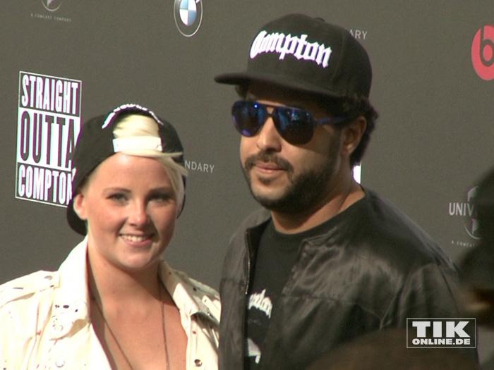 """Adel Tawil kam mit seiner Freundin Lena zur Premiere von """"Straight Outta Compton"""" in Berlin"""