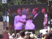 Das Volk durfte per Public Viewing live bei der Taufe der Zwillinge Gabreiela und Jaques dabei sein