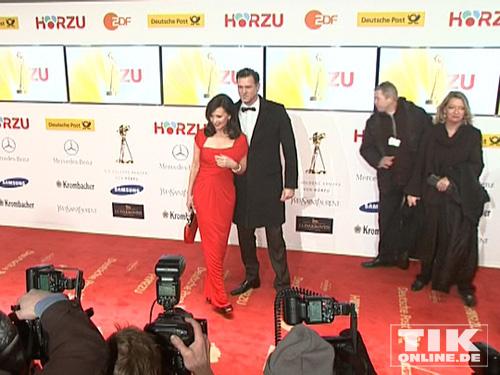 Iris Berben und Heiko Kiesow auf dem roten Teppich