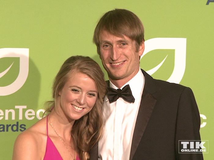 Nina Eichinger und ihr Freund Fritz Meinikat beim GreenTec Award 2015