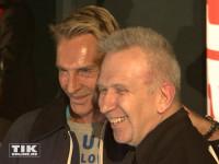 Jean Paul Gaultier mit seinem Kollegen Wolfgang Joop