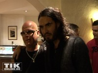 Russell Brand mit Katy Perrys Vater Keith Hudson