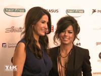 Fernanda Brandão posiert auf der Lebensherbst-Gala 2015 mit Mariella Ahrens