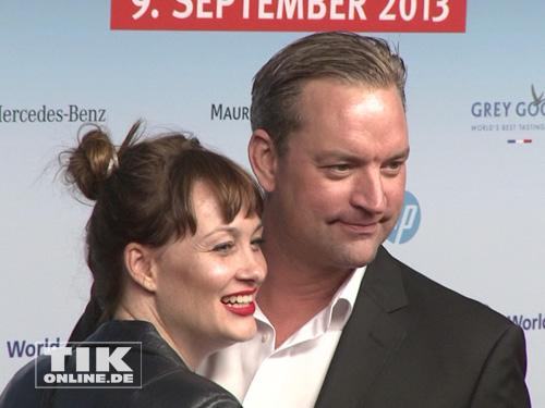 Christian Kahrmann mit Freundin bei der Medianight 2013 in Berlin
