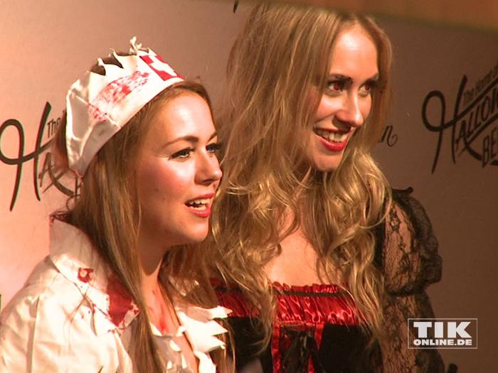 Sarah und Sina Tkotsch bei der Halloween-Party von Natascha Ochsenknecht