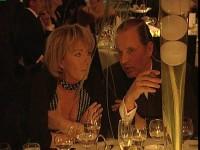 Baron Enno Freiherr von Ruffin mit der Malerin Heidi Stein