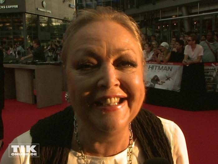 """Barbara schöne kam bestens gelaunt zur Premiere des Action-Spektakels """"Hitman: Agent 47"""" in Berlin."""
