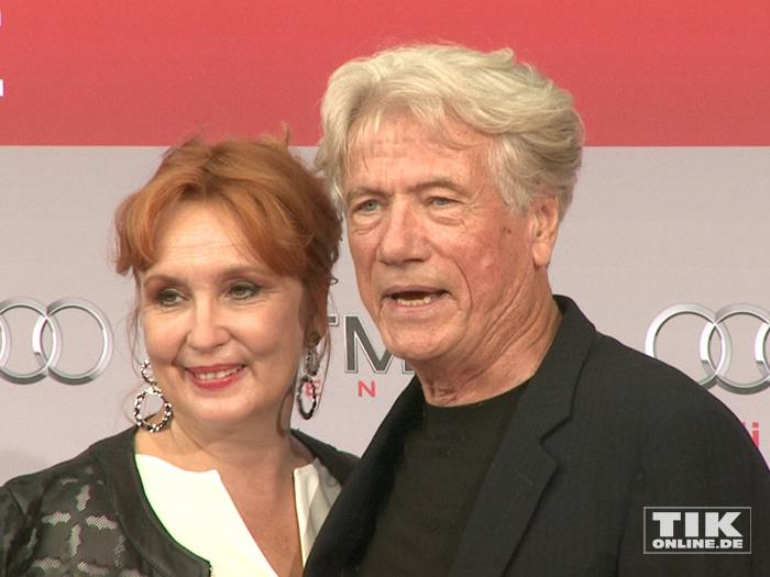 """Jürgen Prochnow kam mit seiner Ehefrau Verena zur Premiere des Action-Spektakels """"Hitman: Agent 47"""" in Berlin."""