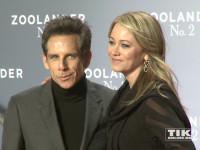 """Ben Stiller posiert mit seiner Ehefrau Christine Taylor auf der """"Zoolander 2""""-Premiere in Berlin"""
