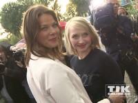 Jessica Schwarz und Anna Maria Mühe haben Spaß auf dem Produzentenfest 2014