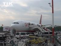 Um 8:52 Uhr landete der Schauspieler Robert Pattinson in Berlin.