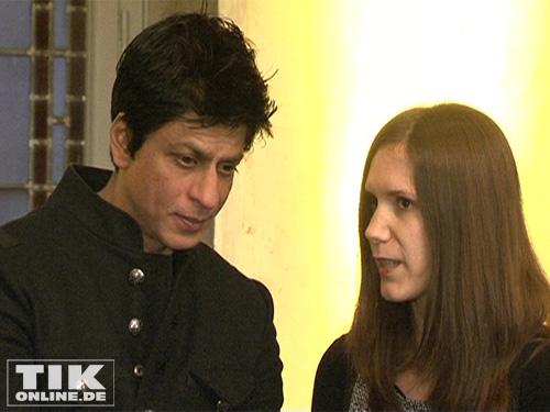 Shah Rukh Khan im Roten Rathaus von Berlin