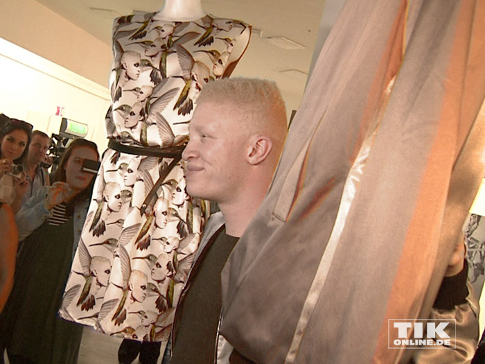Das international renommierten Albino-Models Shaun Ross