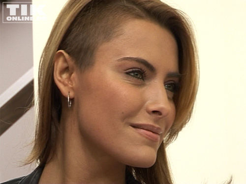 Sophia Thomalla präsentiert ihre neue Frisur im Punker