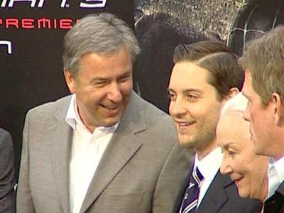 Klaus Wowereit mit Tobey Maguire