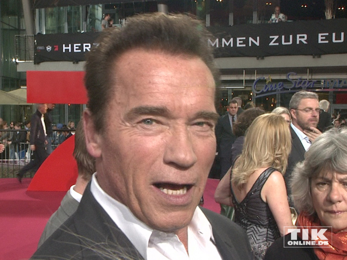 "He is back: Arnold Schwarzenegger bei der Premiere von ""Terminator Genisys"" in Berlin"