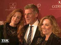 Uli Stein mit Ehefrau Conny und Tochter Jenny bei der TULIP Parkinson Gala 2015 in Berlin