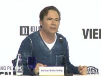 """Michael """"Bully"""" Herbig bei der Vorstellung des neuen Wolfgang Petersen Projekts """"Vier gegen die Bank"""""""