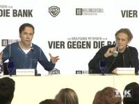 """Michael """"Bully"""" Herbig und Matthias Schweighöfer bei der Vorstellung des neuen Wolfgang Petersen Projekts """"Vier gegen die Bank"""""""