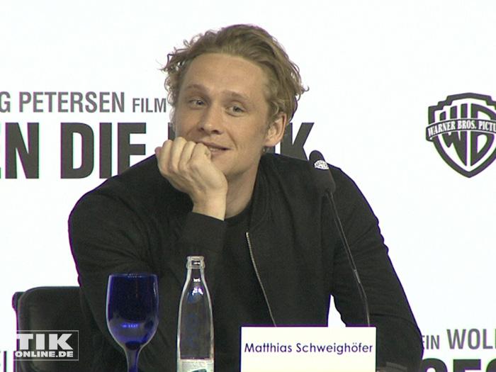 """Matthias Schweighöfer bei der Vorstellung des neuen Wolfgang Petersen Projekts """"Vier gegen die Bank"""""""