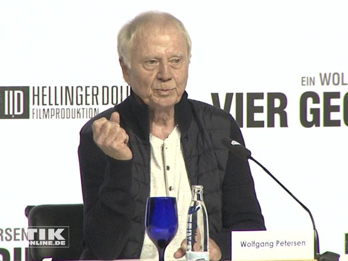 """Wolfgang Petersen bei der Vorstellung seines neuen Projekts """"Vier gegen die Bank"""""""