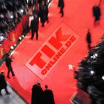 Roter Teppich mit Logo