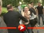 Femen-Protest beim Produzentenfest (Foto: HauptBruch GbR)