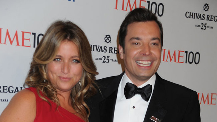 Jimmy Fallon und Nancy Juvonen