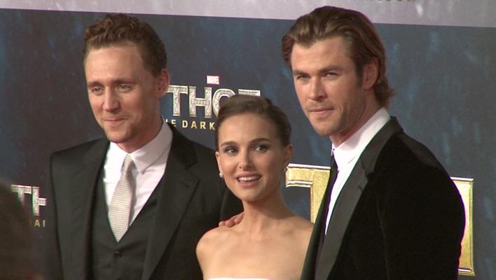Tom Hiddleston, Natalie Portman und Chris Hemsworth (Foto: HauptBruch GbR)