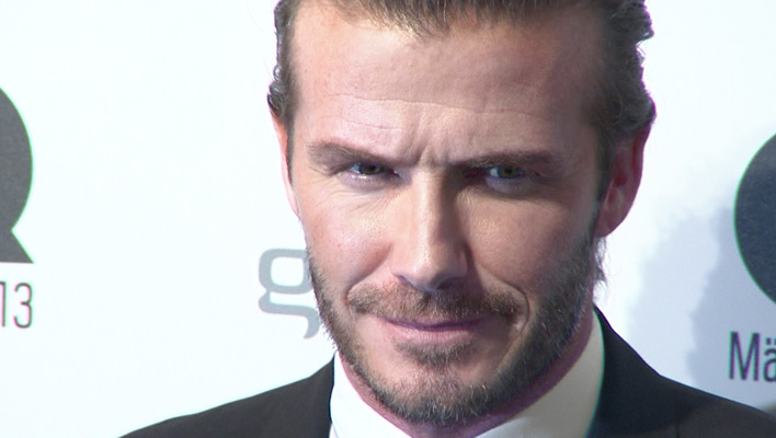 David Beckham GQ Awards 2013