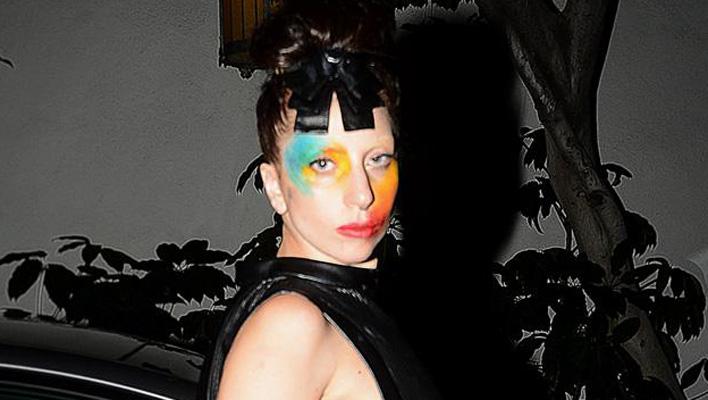 Lady Gaga geschminkt