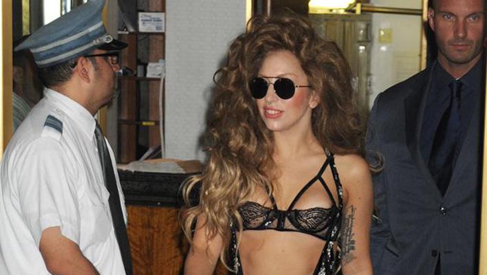 Lady Gaga Glitzer BH