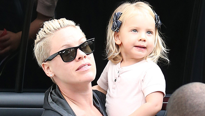Pink und Tochter Willow