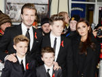 David, Victoria, Romeo, Cruz und Brooklyn Beckham