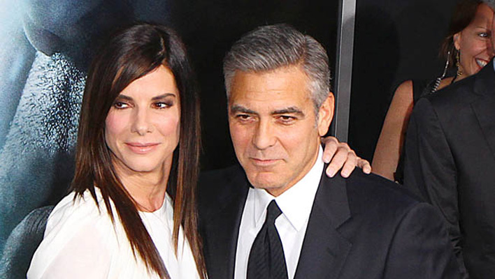 george clooney nimmt sandra bullock auf die schippe. Black Bedroom Furniture Sets. Home Design Ideas