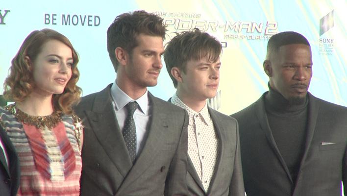 Emma Stone, Andrew Garfield, Jamie Foxx, Dane DeHaan, Spider-Man (Foto: HauptBruch GbR)