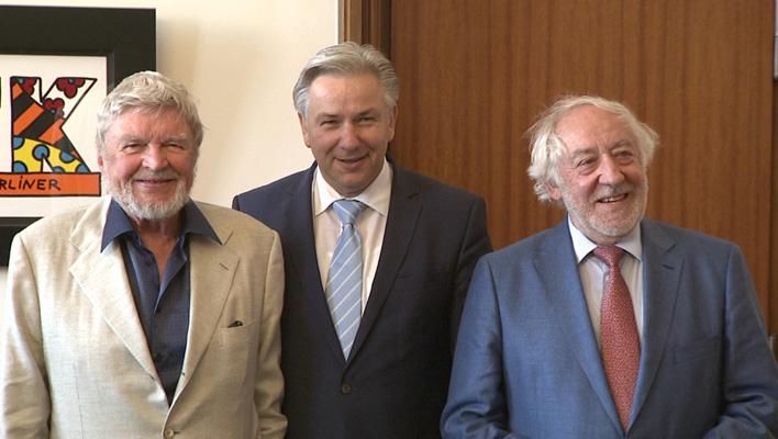 Hardy Krüger, Dieter Hallervorden, Klaus Wowereit (Foto: HauptBruch GbR)